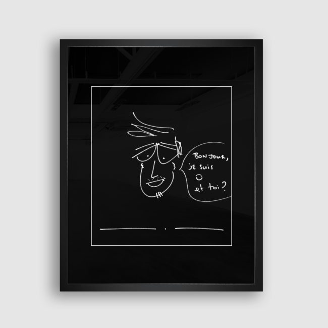 Autoportrait de O (Olivier Marguerit), Collection Trombinoscope © adscite, Alexandre Fisselier et Mathilde François