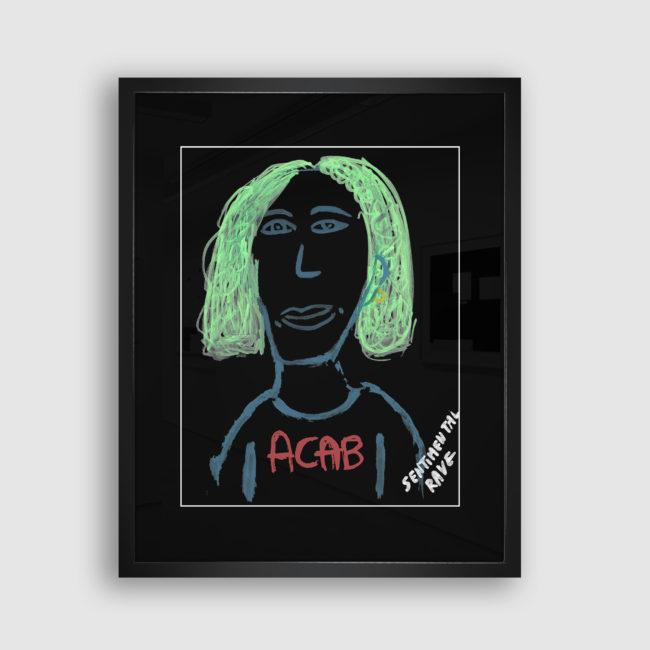 Autoportrait de Sentimental Rave, Collection Trombinoscope © adscite, Alexandre Fisselier et Mathilde François